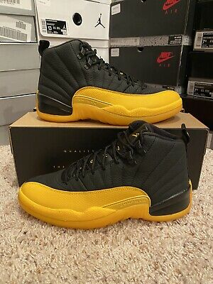 Air Jordan 12 University Gold Black Retro Sz 14 130690 070 Ebay