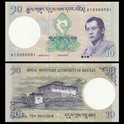 Unc 2013,p-29b Bhutan 10 Ngultrum