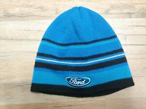 Boys-Hat-Cap-Ford-Blue-Black-One-Size-Fits-Most-Acrylic-Striped