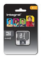 Integral 4GB Micro SDHC Card and Card adapter Micro SDHC memory Card