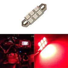 1x Super Red 42mm 578 LED 211-2 Bulbs Festoon 5050 Dome Map Cargo Light 1xC6