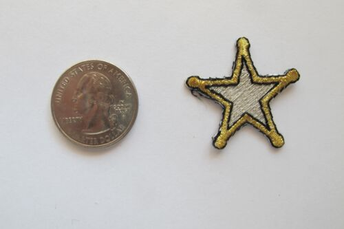 #2357S Lot 4 Pcs Gold,Silver West Cowboy Star Embroidery Applique Patch