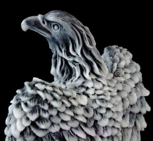 Eagle with Fish Marble Stone Figurine Bird Sculpture Russian Art Animal Statue