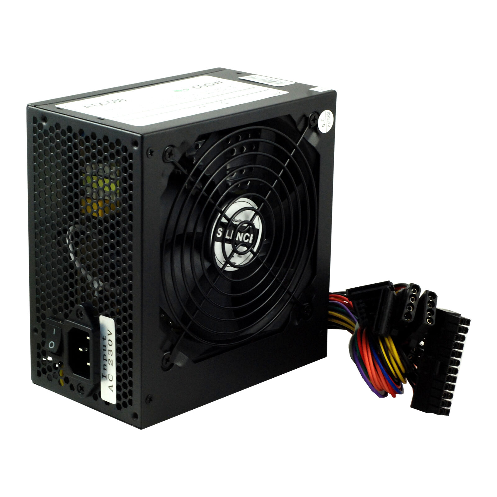 Black 500W 12CM Silent Fan PC Power Supply ATX Computer PSU 500 Watt ...