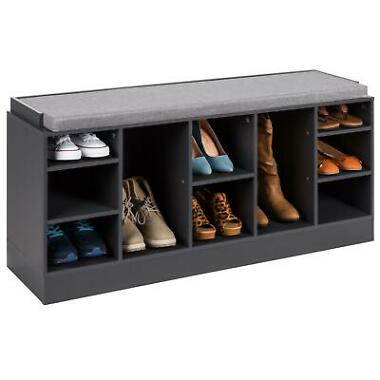 Best Choice Products Shoe Storage Rack Bench with Padded Seat