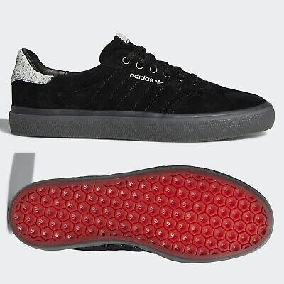 adidas Originals 3MC Mens Skateboarding Trainers Black Suede Skate Shoes SIZES | eBay
