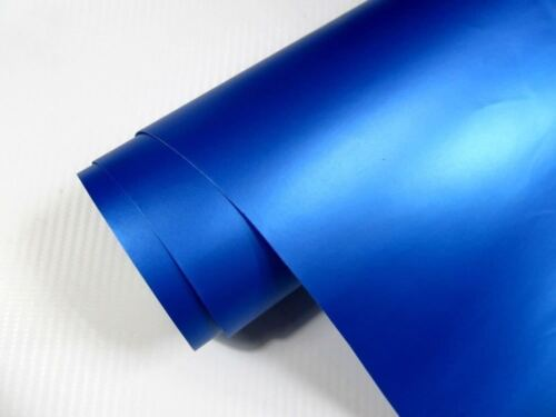 4,90€//m² Auto Folie BLAU METALLIC MATT 2000 x 152 cm 3D Klebefolie Car Wrapping