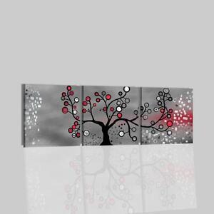 Quadri moderni dipinti a mano grigio albero quadro per salone o camera da letto ebay for Quadri moderni camera da letto