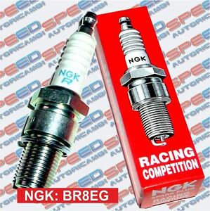 NGK BR8EG CANDELA ACCENSIONE  ART. 3130 RACING COMPETITION SPARK PLUGS