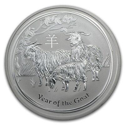 2015 Australia 1 Oz Silver Lunar Goat Bu Series Ii Ebay