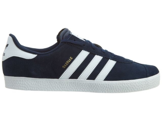 adidas Gazelle 2 Big Kids B24620 Collegiate Navy White Suede Shoes ... 99d7872464b