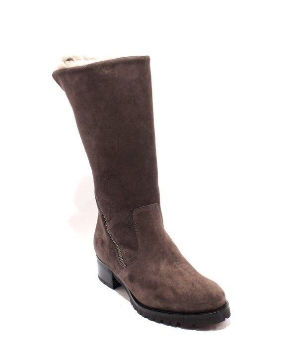 Luca Grossi 249 249 249 Marrón gamuza de piel de oveja piel de la mitad de la pantorrilla cremallera botas 41 US 11  varios tamaños