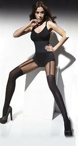 MOCK-SUSPENDER-STOCKINGS-TIGHTS-40-20-DENIER-034-LISA-034-TOP-QUALITY