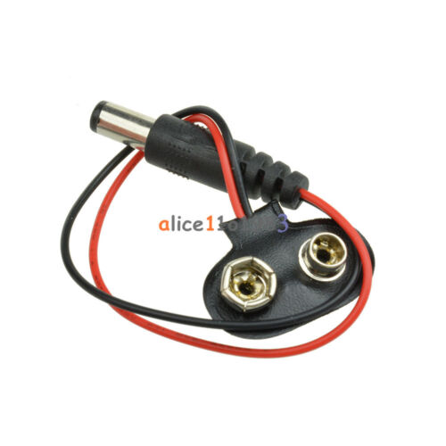 5PCS T type 9V DC Battery Power Cable Barrel Jack Connector for Arduino BC S DL