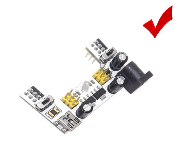 3.3V 5V ,Arduino Upgraded K2 MB102 Bread Board Power Supply 2-Way Module