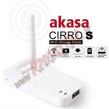 MEDIA SERVER WIFI AKASA CIRRO S HARD DISK TABLET UPNP STORAGE SHARER ROUTER USB