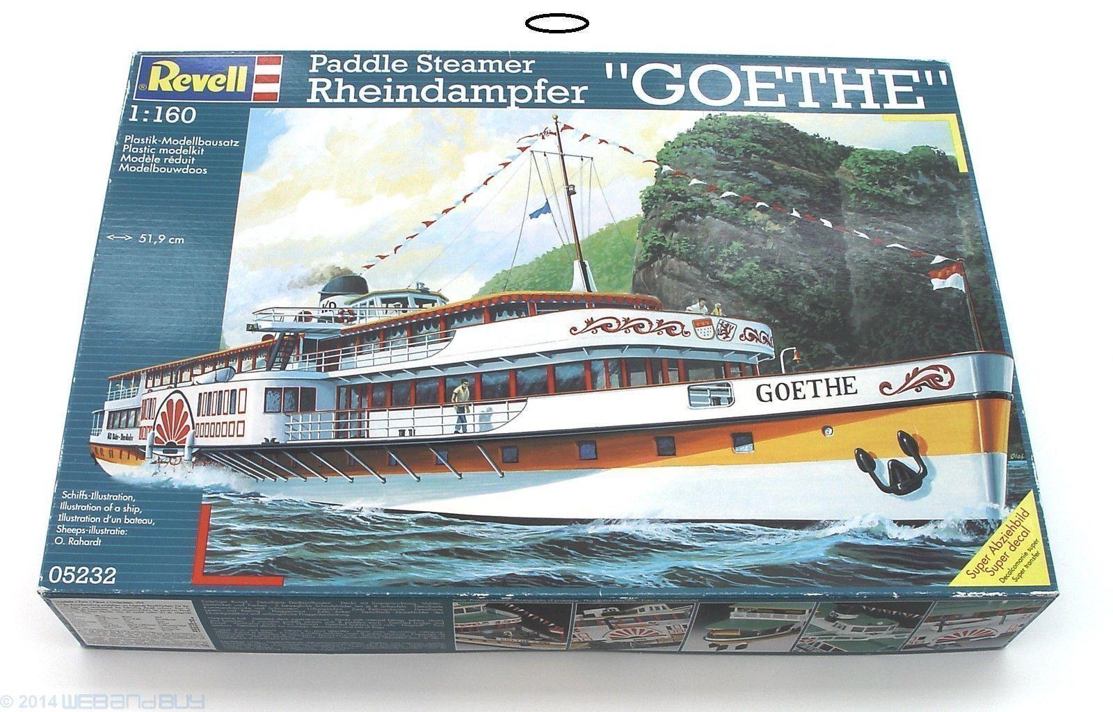 ENORME Paddle Steamer Rheindampfer GOETHE   Revell - 05232