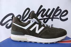 big sale 79cbe 5e60f Image is loading NEW-BALANCE-574-SPORT-MOUNTAIN-OLIVE-SUEDE-574S-