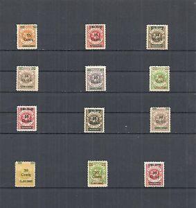 Memel-Klaipeda-Litauen-1923-Auswahl-aus-MiNrn-206-229-postfrisch