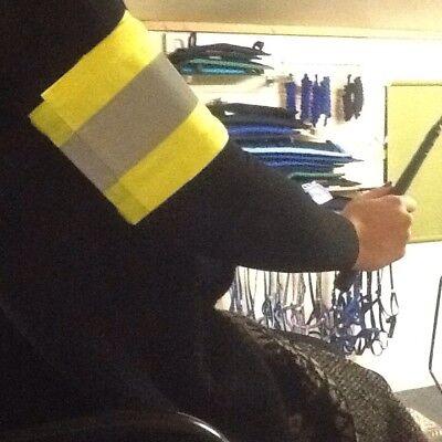 Mettere In Guardia Hi-viz Fluorescenti Cavallo Fascia Da Braccio Di Guida O Breast Collare Band.-
