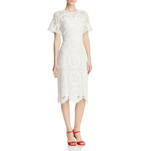 Shoshanna Womens Marmande Lace Midi Daytime Sheath Dress BHFO 6988