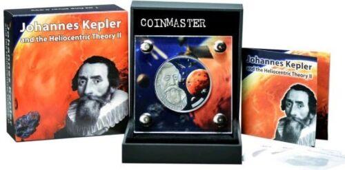 BURKINA FASO 2017 1 Oz Silver JOHANNES KEPLER 3 Martian Meteorites Coin.