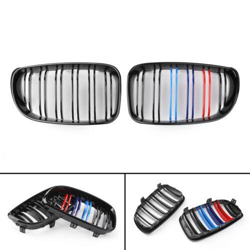 2x Gloss Black Mcolor Front Grille de calandre Pour BMW E81 E82 E87 E88 08-12 AF