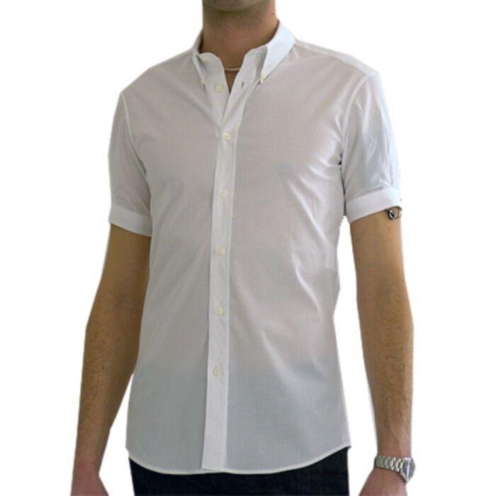 Alexander mcQueen camicia brad pitt, brad pitt hemd Weiß