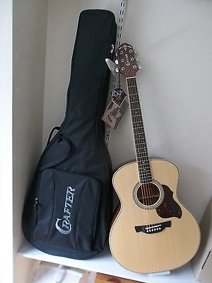 New Waranteed Reasonable Crafter Ga6n Acoustic Guitar & Crafter Padded Gigbag Acoustic Electric Guitars Musical Instruments & Gear