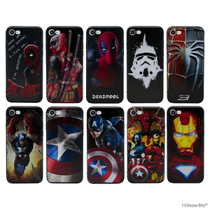 hot sale online 37cee aeed0 Details about Marvel Gel Case for Apple iPhone 6 6s Plus 5.5 Inch Screen  Protector Cover