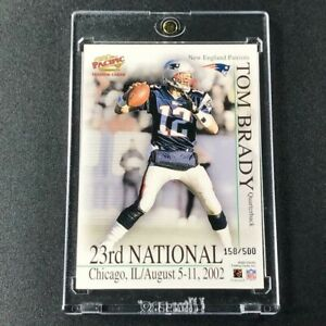 TOM-BRADY-2002-PACIFIC-NATIONAL-2-PROMO-CARD-NEW-ENGLAND-PATRIOTS-NFL-039-D-500