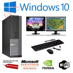 Ultra-Rapida-Paquete-De-Pc-Para-Juegos-Intel-i7-8GB-1TB-Win-10-4GB-GTX-1650-PC-de-pantalla-dual