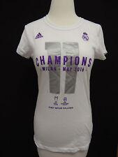 REAL MADRID Futbol Soccer Champions Milan 2016 Adidas Performance T Shirt S