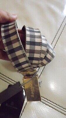 Acquascutum Londra Cintura Nuova In Pelle Misura 115 Cm 145,00 Cartellino Logo Vendite Economiche