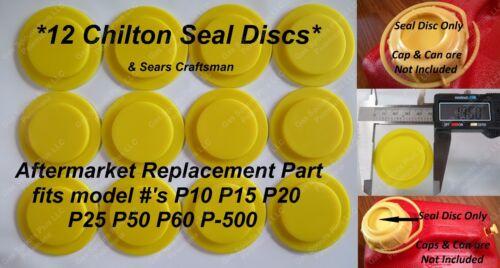 12 NEW CHILTON SEAL DISCS Sears Craftsman Gas Cans P10 P15 P20 P25 P50 P60 P500