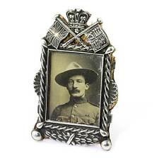 RARE 1899 Argento Sterling Cornice foto con in miniatura Baden Powell 17 msonlk