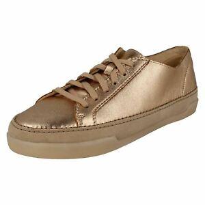 Détails sur Hidi holly femmes clarks en cuir plates à lacets escarpins baskets casual chaussures de sport afficher le titre d'origine