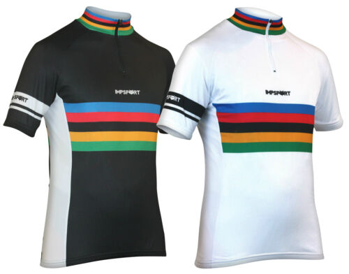 White Cycling Jersey Mens /& Ladies Impsport Masters Classic Performance Black