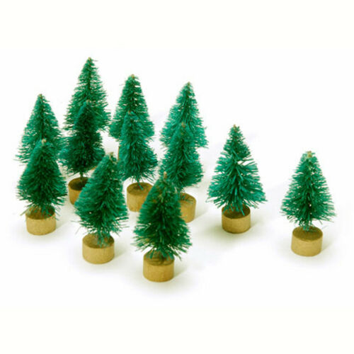 "Mini Bottle Brush Christmas Trees 12 pc Mini Sisal Christmas Trees 1 1//4/"""