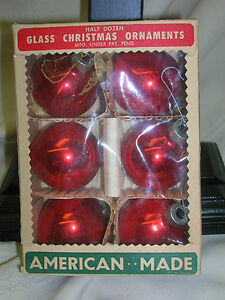 image is loading vintage glass christmas ornaments american made paragon glass