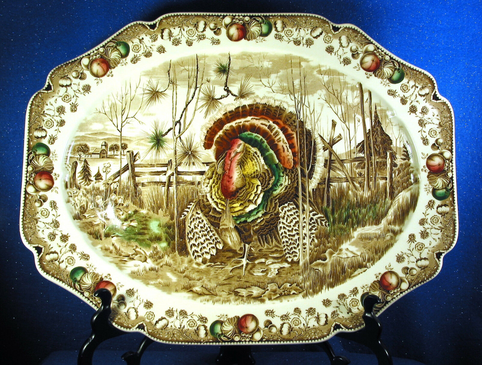 Johnson Bredhers  His Majesty 20  Turkey Platter  Made in England (ISWEstate)