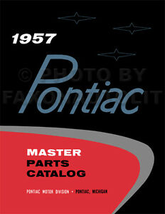 Pontiac Master Parts Book 1954 1953 1952 1951 1950 1949 Illustrated Catalog