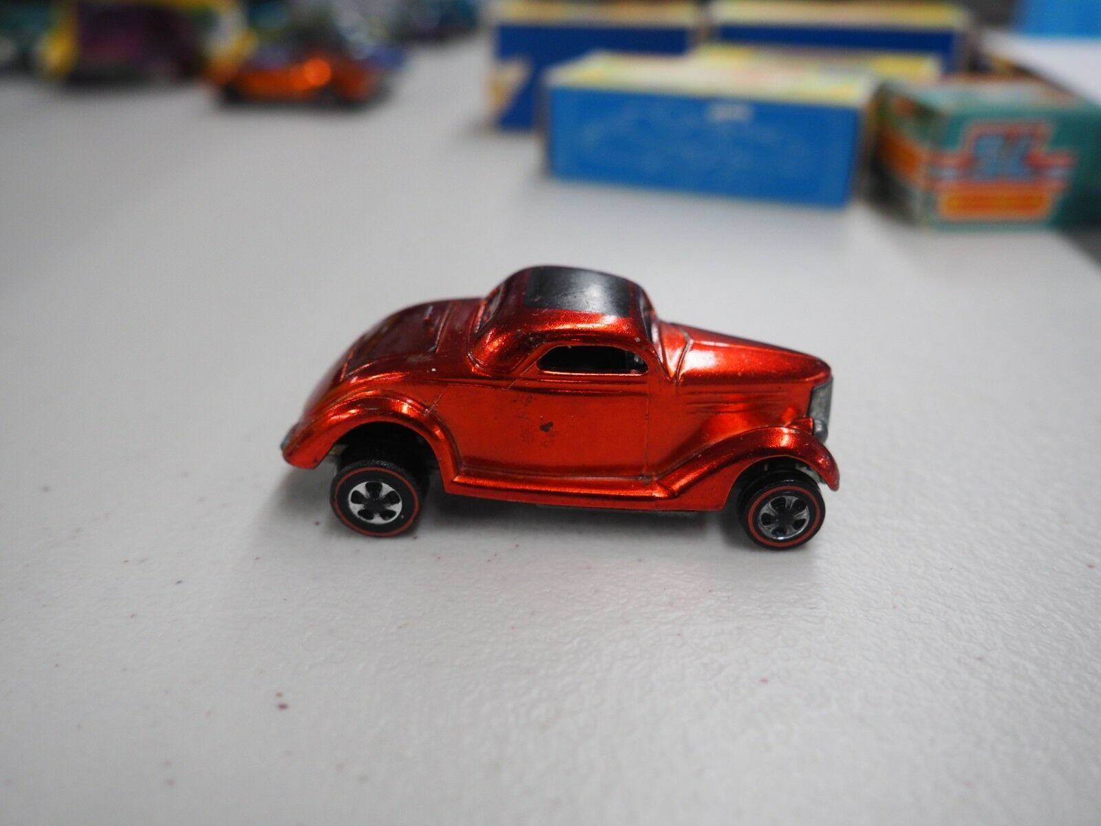 Vintage Hot Wheels Redlines unrestored original Classic 36 Ford Electric Red