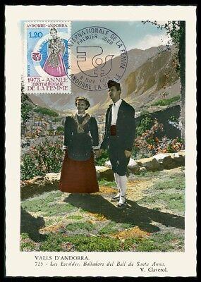 Rapture Andorra Mk 1975 Jahr Der Frau Trachten Maximumkarte Maxi Card Mc Cm Ac59