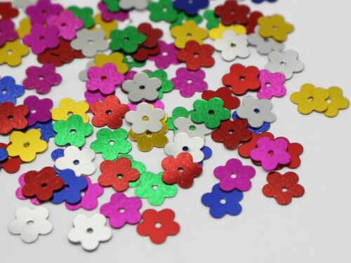 2500 Mixed Color 10mm Flat Flower Loose sequins Paillettes Sewing Wedding Craft