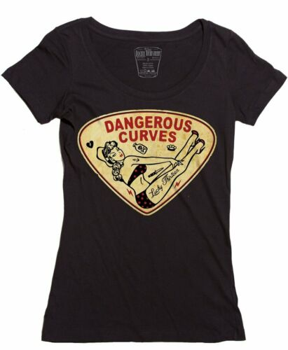 Pin Dangerous Shirt T Lucky Donna 13 Curve up Rod Hot Ragazza xI06P6q