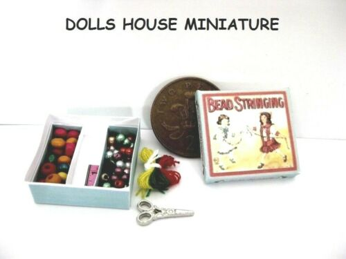 BOXED BEADING SET DOLLS HOUSE MINIATURES