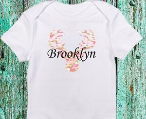 de5f22d89 Personalized Name Camo Deer Daddy's Hunting Buddy Pink Baby Girl ...