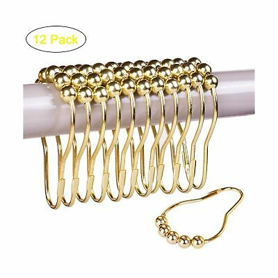 TANTAI Shower Curtain Hooks Gold Rustproof Stainless Steel Shower Curtain Rings