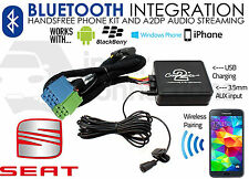 Seat Bluetooth streaming adapter handsfree calls CTASTBT003 AUX iPhone Samsung